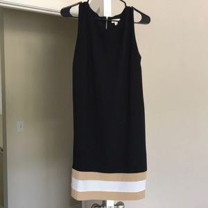 Black shift dress with pockets
